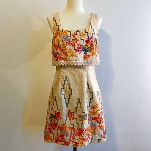 Free People Vintage Inspired Lurex Mini Dress